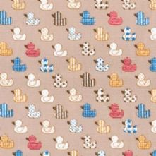 60% OFF Cotton Little Beige Ducks Print Fabric x 0.5m